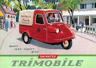 Brosur Iklan Daihatsu Midget 1957