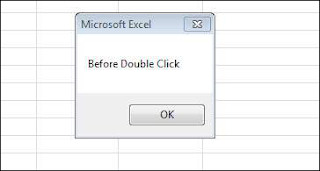 Upon double clicking on any cell the message box is displayed Shout4Education