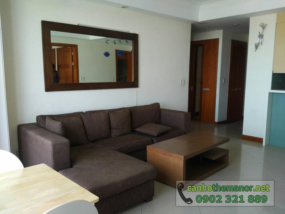 Căn hộ The Manor HCM tầng 10 diện tích 98m2 - sofa phòng khách
