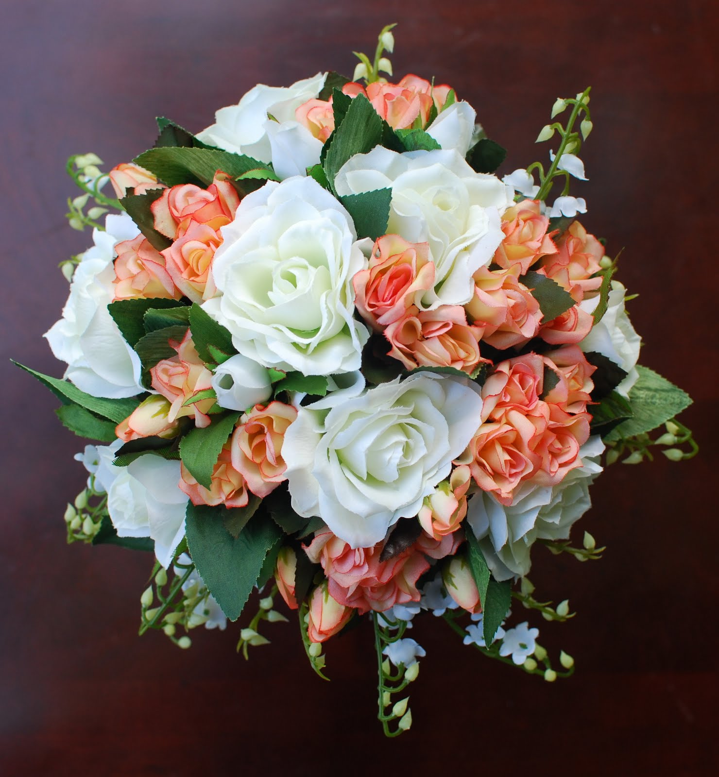 Making A Wedding Bouquet With Silk Flowers: Silva Salazar Floral Productions: Silk Wedding Bouquets
