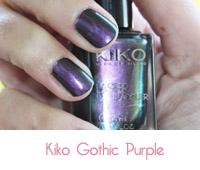 vernis à ongles Kiko Gothic Purple 433