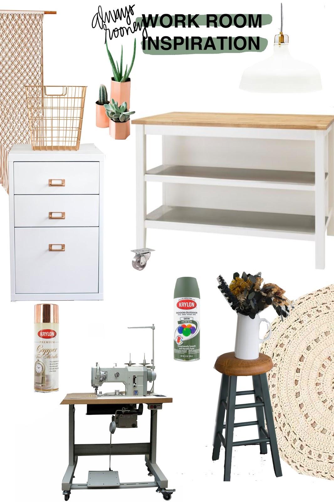 Room Design Program: Always Rooney: A New Cabinet & Work Room Design Plan