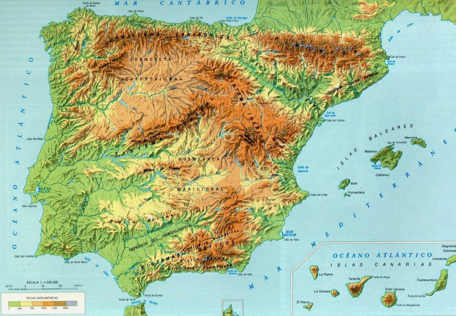 Sierra De Gredos Mapa.Sierra De Gredos Mapa Fisico Mapa