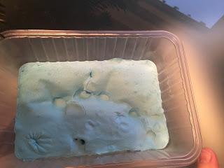 Slime iceberg après 48 heures de repos, craquement