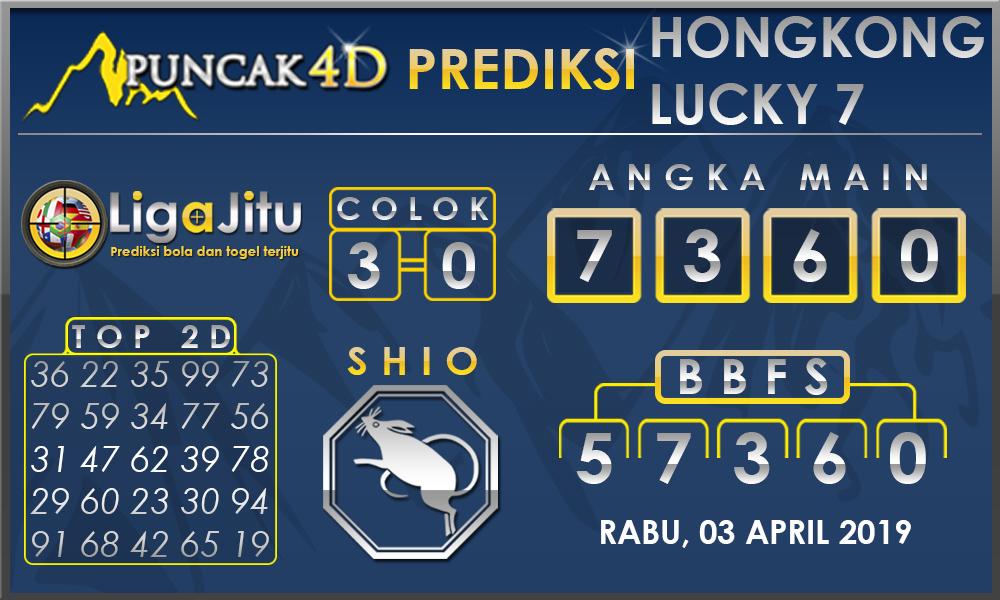 PREDIKSI TOGEL HONGKONG LUCKY7 PUNCAK4D 03 APRIL 2019