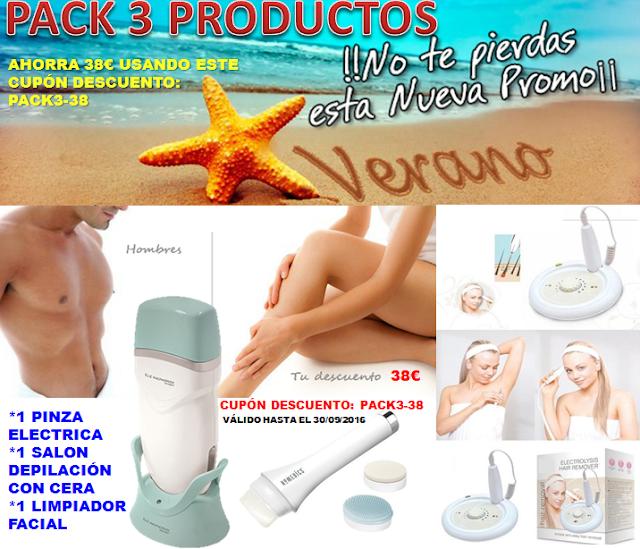 Llévate estos 3 productos y te ahorrarás 38€ en tu compra.