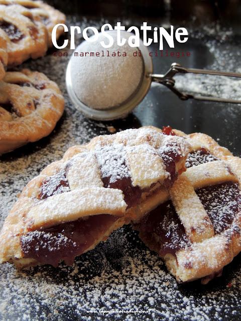 Crostatine con marmellata di ciliegie - ww.lapasticceriadichico.it