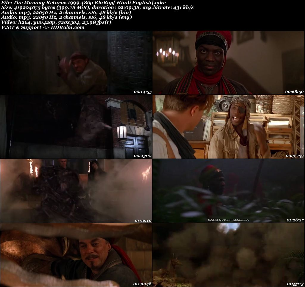 The Mummy Returns 1999 480p BluRay [Hindi + English] 399 MB Screenshot