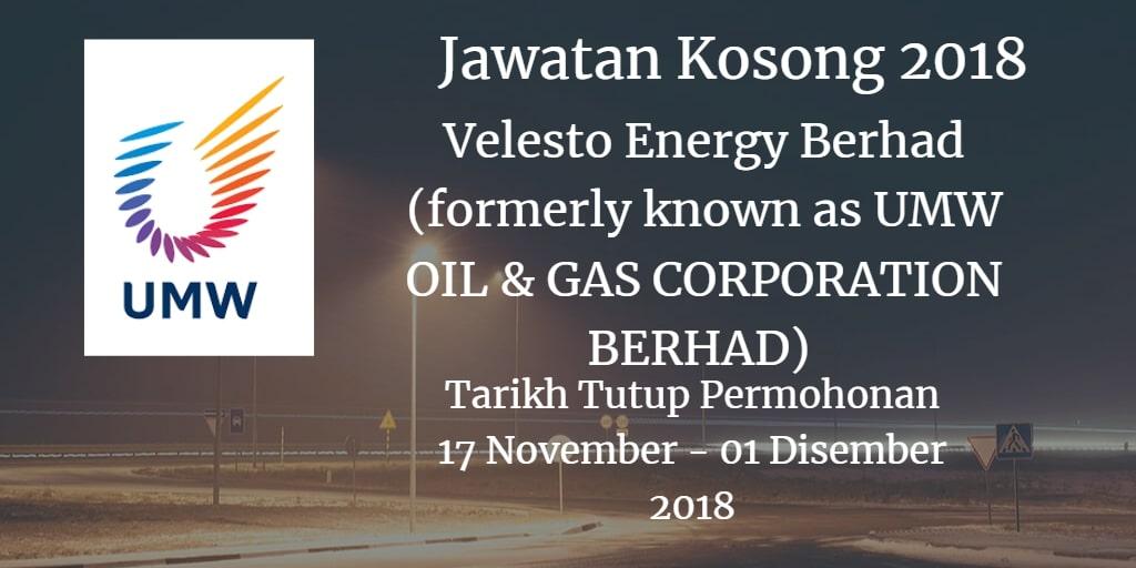 Velesto Energy Berhad (formerly known as UMW OIL & GAS CORPORATION BERHAD)