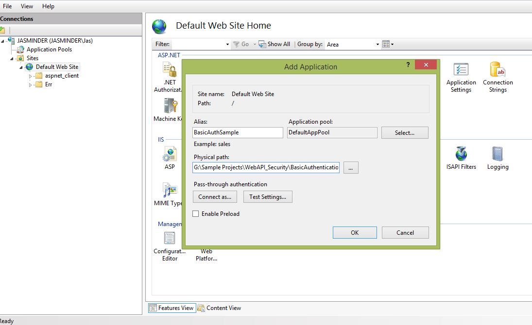 netfreak: Implement Basic Authentication in ASP Net Web API at Host