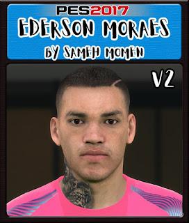 PES 2017 Faces Ederson Moraes by Sameh Momen