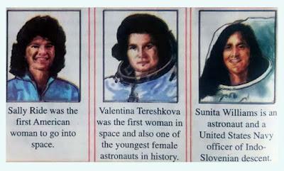 women in space, question no 6, class 7, who was kalpana chawla, sali ride