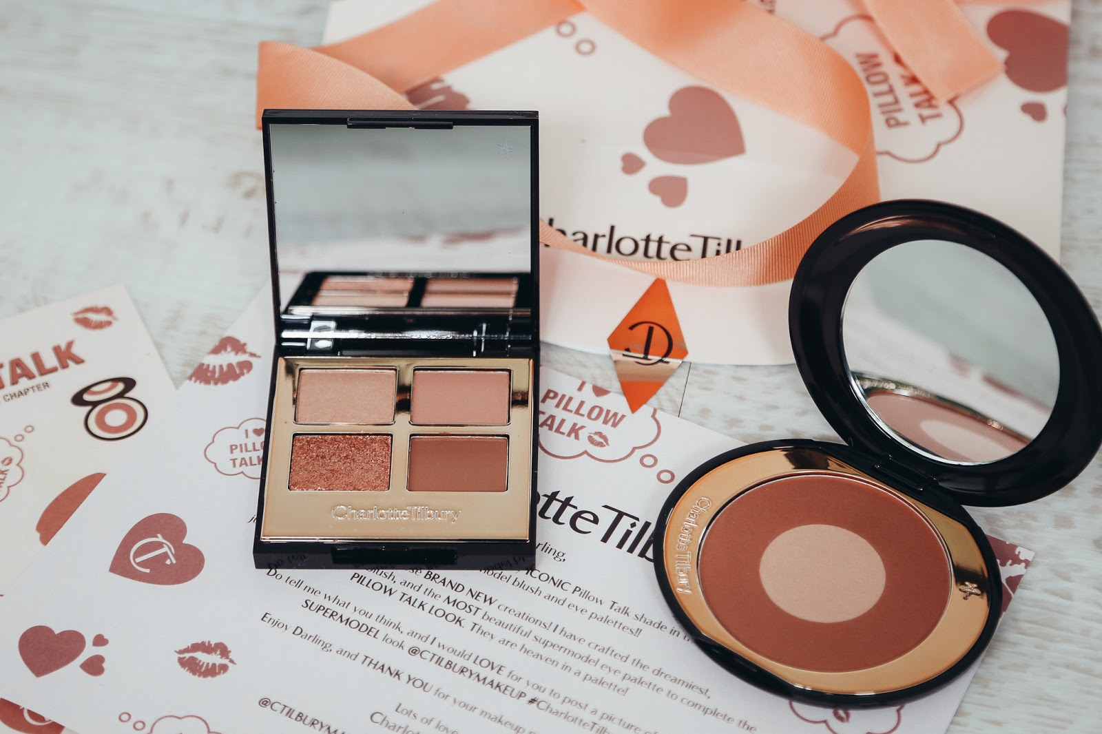 Charlotte Tilbury Pillow Talk Blush and eye shadow