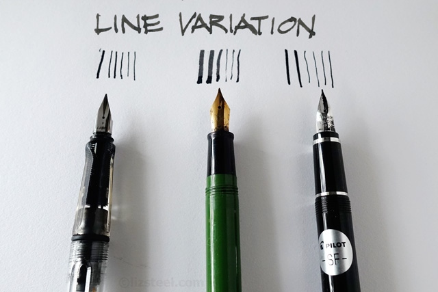 I Can Get A Variation In Line Using The One Pen As We Will See Part 3 Fountain Even Non Flexible Nib Produce Different Thickness
