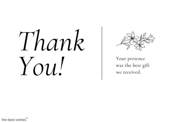 thank you message for attending wedding