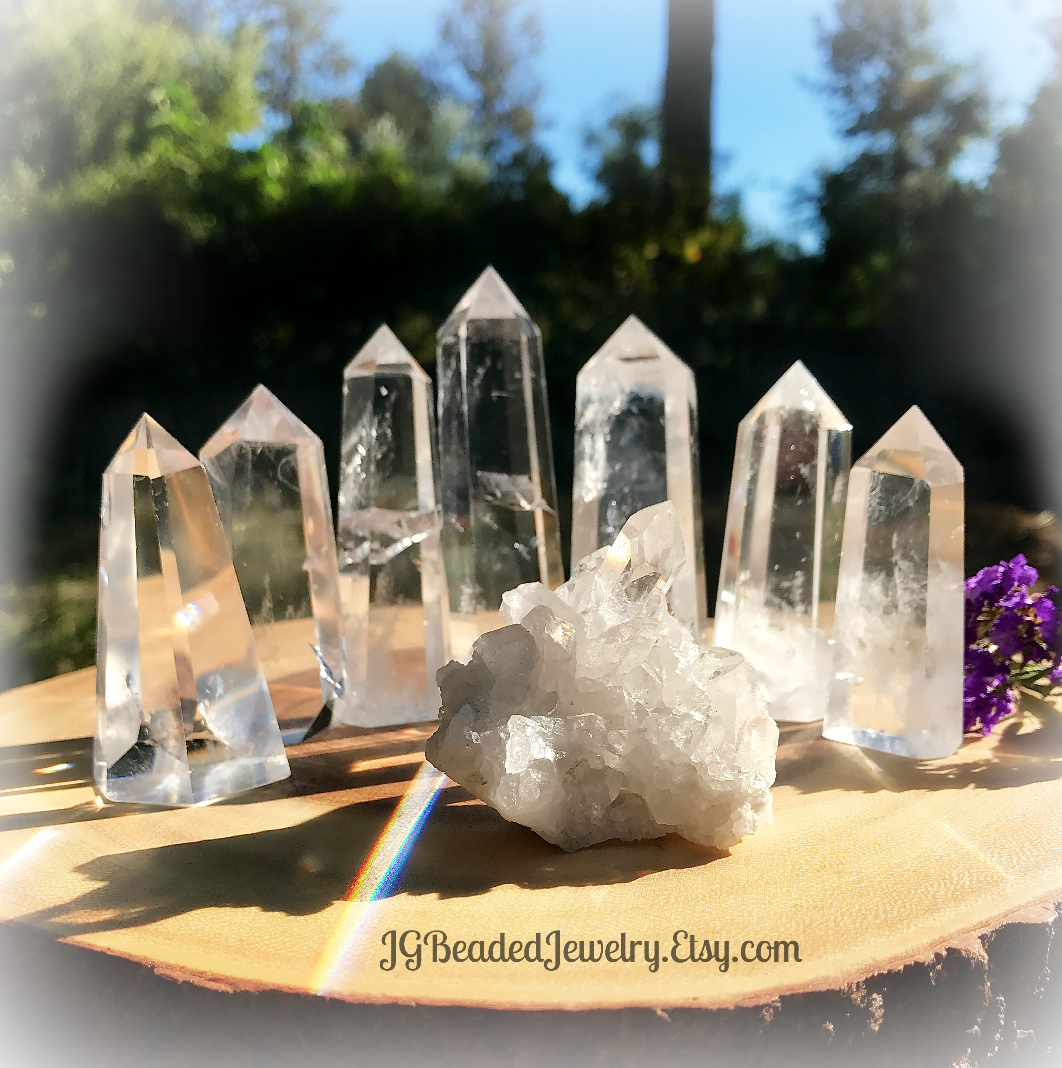 7f29e12647fb0a Beautiful and amazing A+ grade clear quartz crystal points! Every single  crystal is hand selected for its radiant beauty, quality and energy by  yours truly.