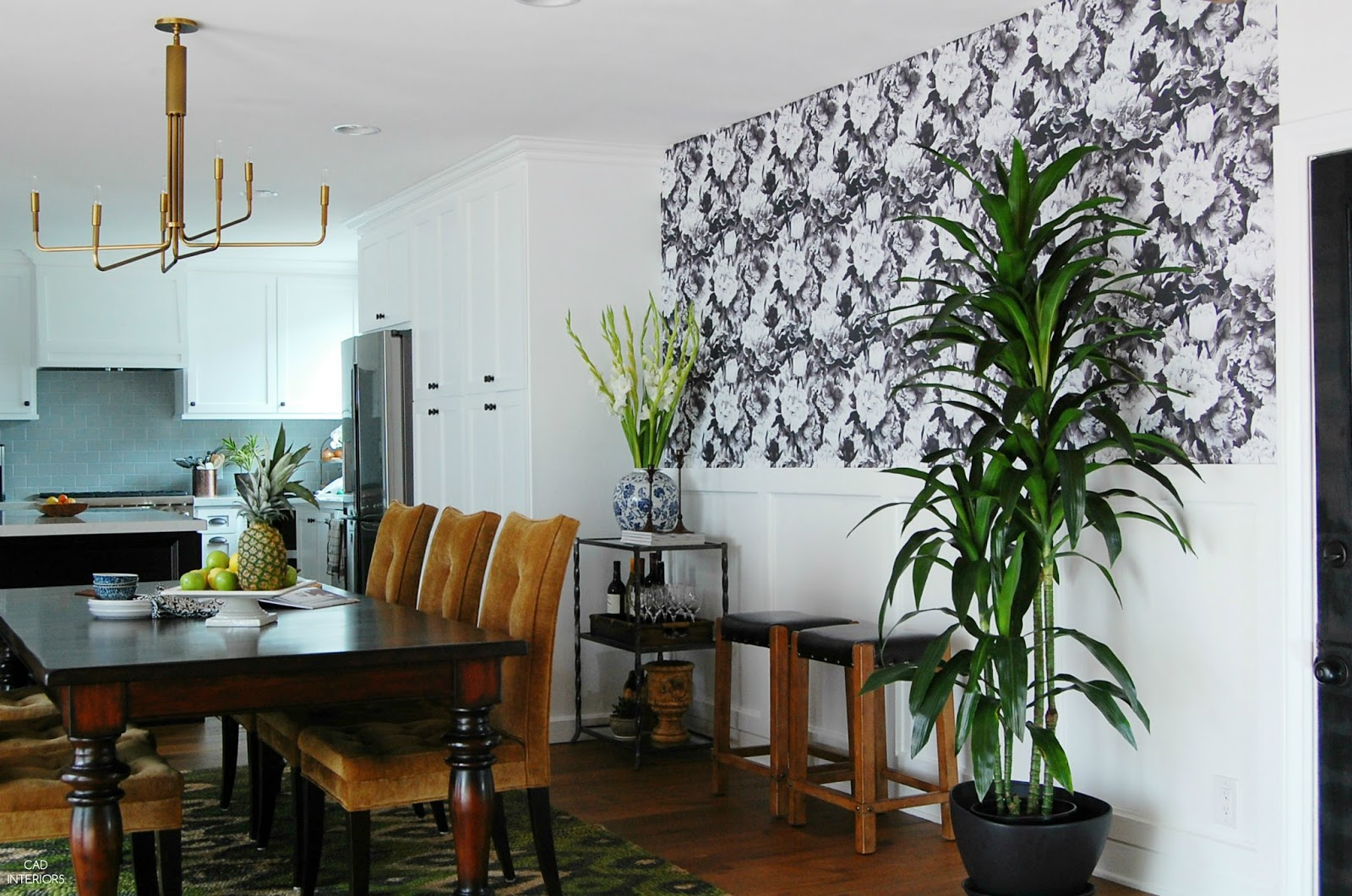 one room challenge interior design decorating wallpaper wainscoting diy