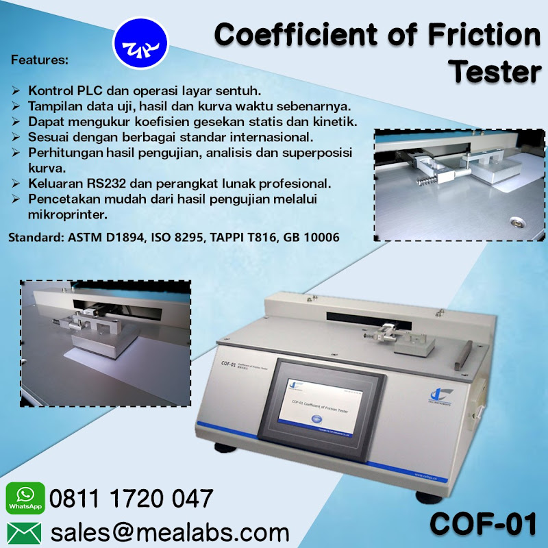COF-01 Coefficient Friction Tester