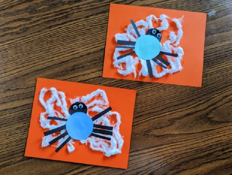 toddler spider art project