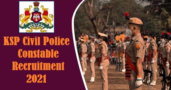 KSP Civil Constable Jobs 2021 for 4000 Posts
