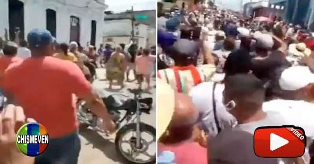 Miles de cubanos salieron a la calle para acabar con el Régimen de esa isla