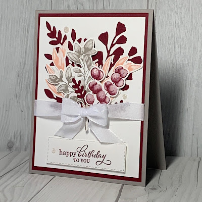 Birthday card using Stampin' Up! Forever Fern Stamp Set