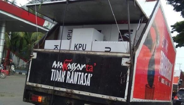 Keterlaluan, KPU Gunakan Truk Sampah Angkut Kotak Suara