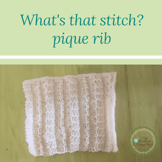 Picture of what's that stitch - pique rib