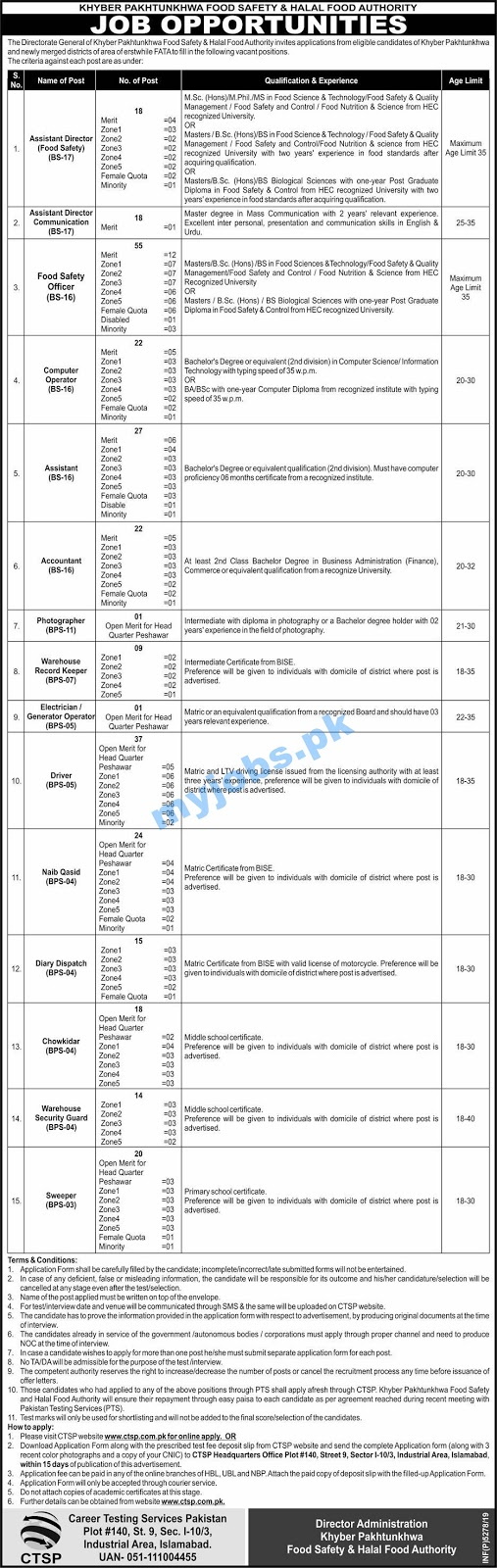 FOOD SAFETY & HALAL FOOD AUTHORITY JOB OPPORTUNITIES