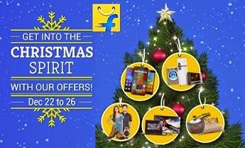 (Last Day) Enjoy the Christmas Week with Flipkart's Sale + Standard Chartered Cash back offer (22-26 December'14)