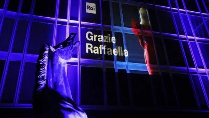 Rai: Il Palazzo di Viale Mazzini si illumina per Raffaella Carrà