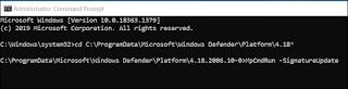 قم بتحديث برنامج مكافحة الفيروسات Microsoft Defender