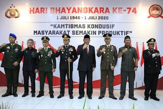 HUT Ke-74 Bhayangkara, Polres Indramayu Gelar Upacara Virtual