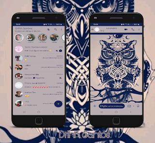 Blue Owl Theme For YOWhatsApp & Fouad WhatsApp By Driih Santos