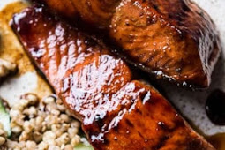 Caramelized Teriyaki Salmon with Sesame Toasted Buckwheat