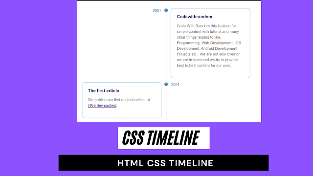 css timeline   css timeline vertical   html css timeline