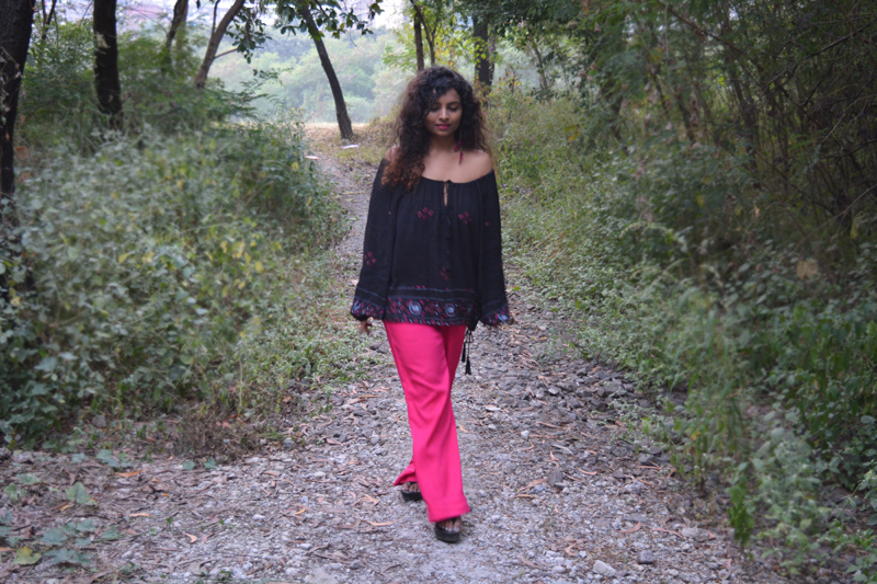 hippie trend indian bloggers bohemian fashion hippie fashion off shoulder top