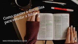 disciplina para estudar a Bíblia