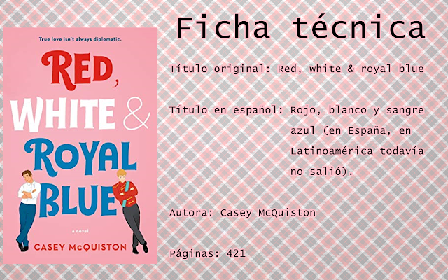 """Reseña: """"Red, white and royal blue"""""""
