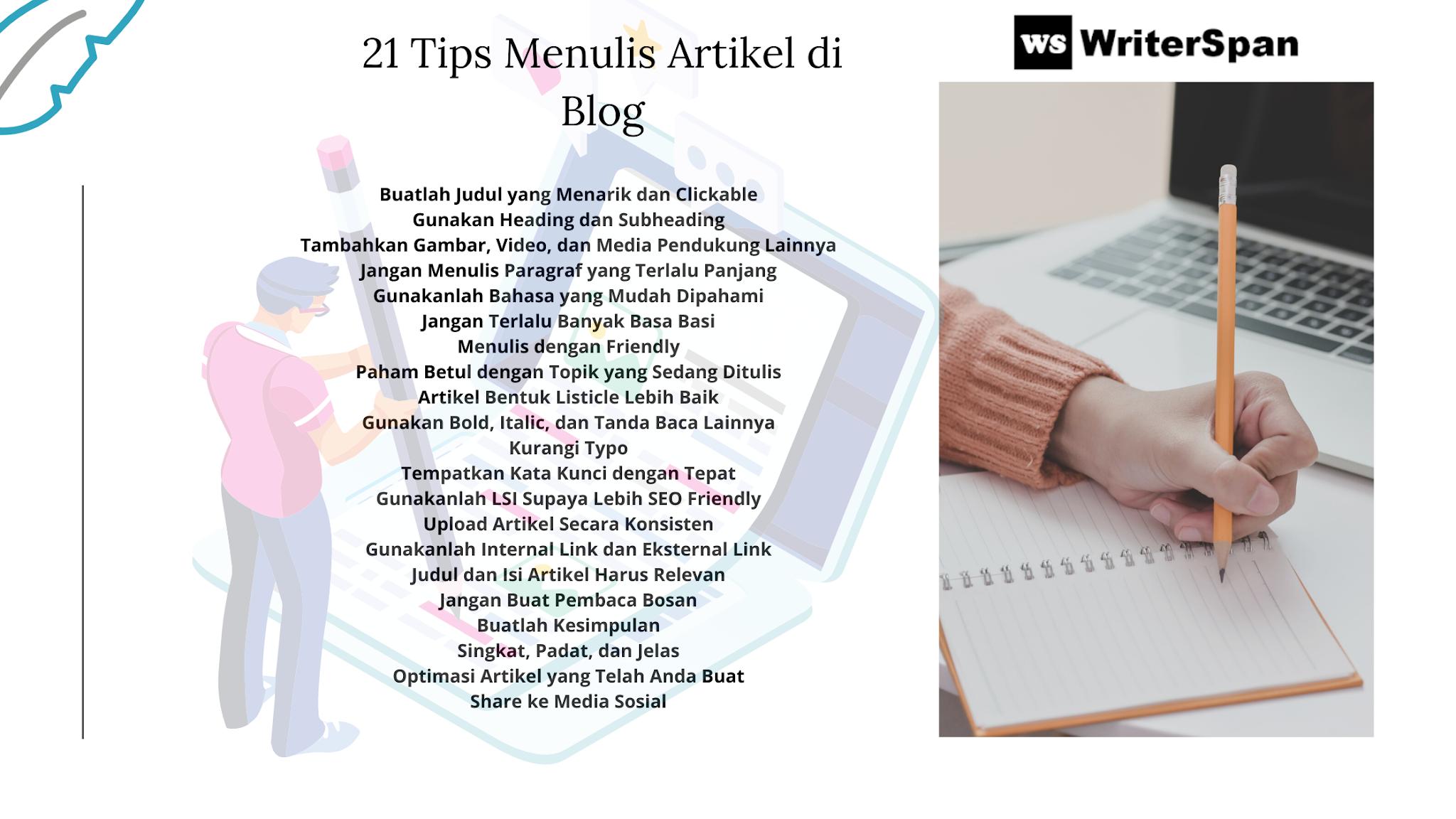 Tips Menulis Artikel di Blog
