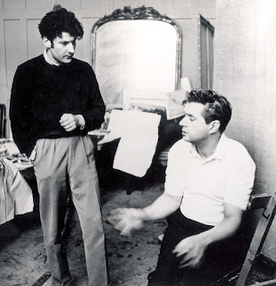 Kindred spirits: Freud (left) with another post-war great, the artist Francis Bacon, in the latter's studio in 1953, an era in which the pair spent a lot of time drinking together in Soho