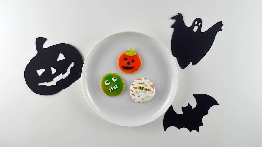 polymer clay halloween decor cookies
