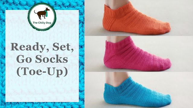 Ready, Set, Go Socks (Toe-Up) Pattern: Learn new skills while you knit