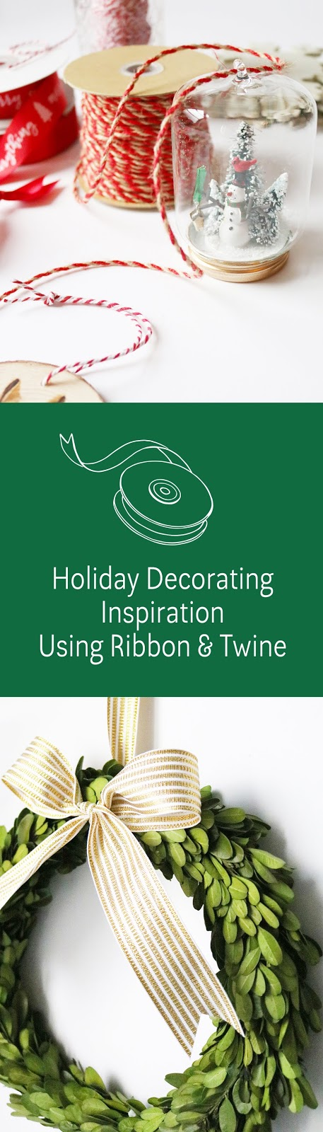 holiday decorating inspiration using ribbons and twine | creativebag.com