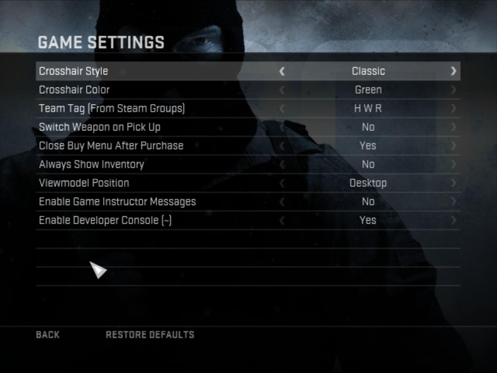 Cs 1 6 steam launch options