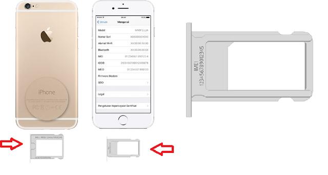 Tray SIM iPhone Untuk Ce kNomor IMEI