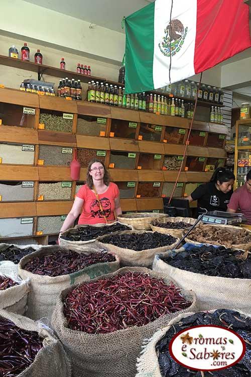 Pimentas secas no México