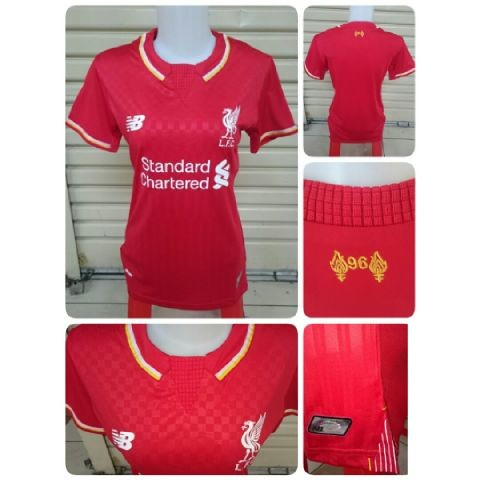 0c7646ca7 gambar photo Jersey Liverpool home ladies New Balance musim 2015 2016  enkosa sport toko online