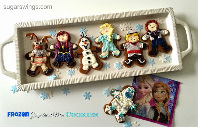 Disney Frozen gingerbread men cookies