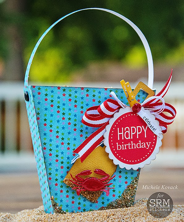 SRM Stickers Blog - Birthday Party Diecut Bag by Michele - #birthday #favor #punched pieces #silhouette #stickers